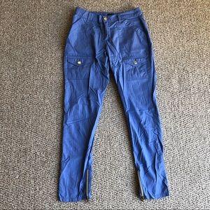 Jaanuu Ceil Blue Skinny Cargo Scrub Pants Size XS